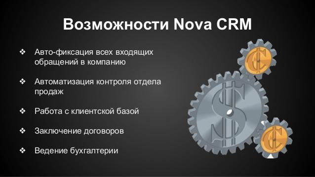 Nova crm возможности